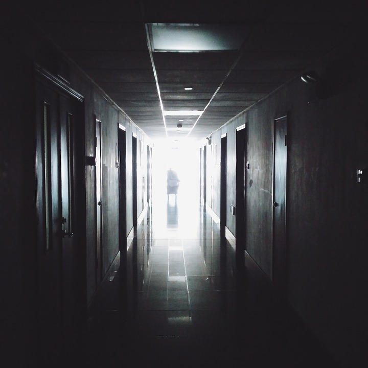 Hospital's hall way