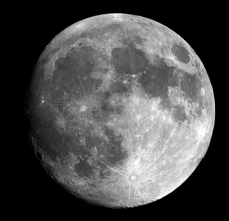 big moon colored gray
